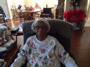 Willie Mae Williams, at home in Bastrop, Texas.