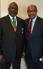 Fred Williams and Ambassador Martin Andjaba of the Republic of Namibia