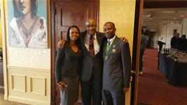 Fred Williams with San Antonio Mayor Taylor andNamibia Mayor  Muesee Kazapua